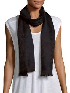 VERSACE Medusa Print Wool Scarf. #versace #scarf