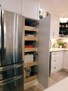 French Door Refrigerator, Getting Organized, French Doors, Kitchen Appliances, Organization, Interior, Home, Diy Kitchen Appliances, Home Appliances