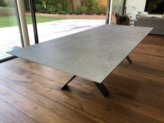 Fixed version of our dining table Xenon with DEKTON Soke top and graphite legs. Available in other sizes. Delivered to our client in Esher. Leather Bed, Sofa Design, Modern Bedroom, Contemporary Furniture, Graphite, Dining Table, Legs, Cabinet, Living Room
