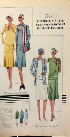 Page from McCall's Summer 1929 catalog | McCall 5626 by Martial & Armand and McCall 5629 by Germaine Lecomte