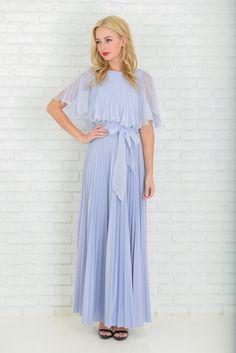 Vintage 70s Light Purple Dress Cape Slv by thekissingtree on Etsy