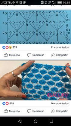 Zig Zag Crochet, Crochet Case, Crochet Tools, Crochet Lace Edging, Crochet Motifs, Crochet Diagram, Crochet Stitches Patterns, Knitting Stitches, Crochet Designs