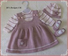 siple baby dresses embellished with embroidery orgu bebek elbiseleri modelleri - PIPicStatsThis Pin was discovered by ElvYou can do this for your baby by examining this wonderful dress.An adorable knit for your litt Knit Baby Dress, Baby Cardigan, Baby Jumper, Baby Sweater Knitting Pattern, Baby Knitting Patterns, Crochet Patterns, Baby Dress Patterns, Knitting For Kids, Little Girl Dresses
