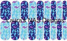Dolphins  #Jamberry #NailArtStudio #NailArt #DIY
