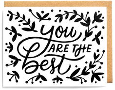 You are the best WorthwhilePaper #valentine #happyvalentinesweek #illustration #valentinecard