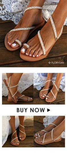 Women's Toe Ring Low Heel Sandals – Floryday Women's Toe Ring Low Heel Sandals Women's toe ring low heel sandals, stylish, comfy, summer time. Low Heel Sandals, Shoes Flats Sandals, Low Heels, Bridal Shoes, Wedding Shoes, Wedding Makeup, Wedding Dresses, Cute Shoes, Me Too Shoes