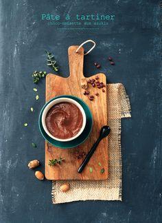 Pâte à tartiner choco-noisette aux azukis - Hazelnut chocolate spread with azukis - Géraldine Olivo et Myriam Gauthier Moreau
