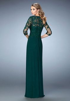 b979ed61b97 La Femme Evening · Wedding Party DressesProm DressesBride DressesColumn  DressSequinsGreen ...