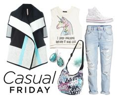 """Friday"" by iviv ❤ liked on Polyvore featuring Forever 21, Disney, Antonio Marras, Converse and Ippolita"