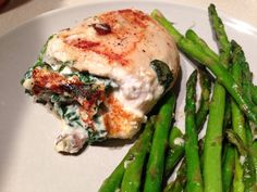 Cheese, Spinach and Mushroom stuffed Chicken Breasts