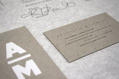The mix of different types of paper creates such a great brand. The letterpress on it is awesome and love the clean look.