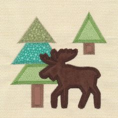 Northwoods Quilt Block (In-the-Hoop) design (Y5282) from www.Emblibrary.com