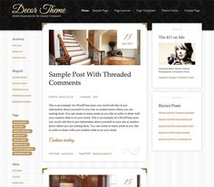 The sophisticated simplicity of Decor theme helps you stage your most inspired work with sharp, mobile responsive layouts.  Clients, customers, and admirers will be floored by the inviting, spacious design that instantly showcases your style on any device. You'll find it easy to spread the word with an effortless connection to all your social networking sites. $79.95