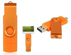 FbscTech(TM) 64GB Swivel Micro USB 2.0 OTG Flash Drive For Android Smartphone/Tablet /PC Orange