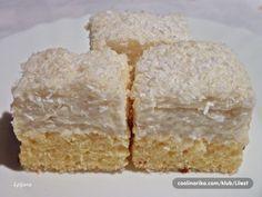 Rafaelo kocke - mekane i sočne! Czech Recipes, Pavlova, Carrot Cake, Food Hacks, Coco, Nutella, Sweet Recipes, Sweet Tooth, Food And Drink