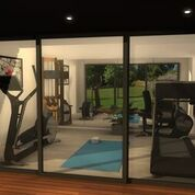 salle de sport cubic stadium abris de jardin pinterest studios r novation et sports et. Black Bedroom Furniture Sets. Home Design Ideas