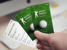 Creative Golfer Golf Coach Business Cards created by CardHunter. This design is available on several paper types and is totally customizable. Custom Business Cards, Business Names, City State, Smudging, Paper Texture, Golf, Things To Come, Creative, Card Templates