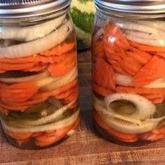 Sliced carrots are given some zip with the addition of jalapeno peppers and onions. Mexican Hot Carrots Recipe, Spicy Carrots, Pickled Carrots, Pickle Vodka, Cooking Roast Beef, California Food, Food Wishes, Carrot Recipes, Food Reviews