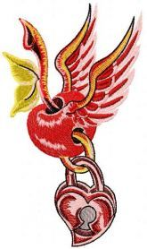 Cherry love lock free embroidery design. Machine embroidery design…