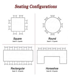 Round Tables with Rectangular Head Table #seating for #conference ...