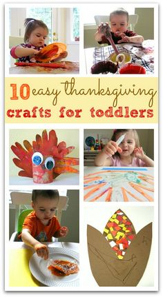 10 cute Thanksgiving crafts and 10 GREAT tips for doing crafts with toddlers. If you craft with your toddler you will want to read these practical and helpful tips.