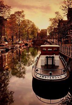 'Amsterdam' Boat on the Canal, Amsterdam, Holland - Amazing Pictures Netherlands Food Больше информации на нашем сайте http://storelatina.com/netherlands/recipes #Netherlandstravel #travelling #traveling #travel