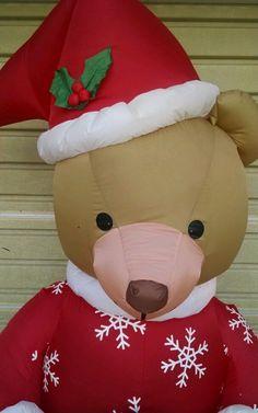 Christmas Holiday Gemmy Inflatable 6 Feet Teddybear Gift Lighted Indoor Outdoor | eBay