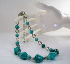Turquoise Magnestie Necklace/Turquoise by JubileeJewelryWGAP