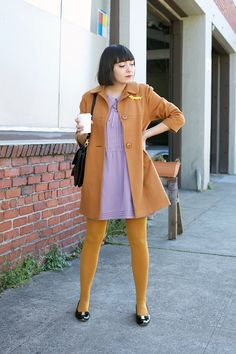 calivintage. lilac and mustard.