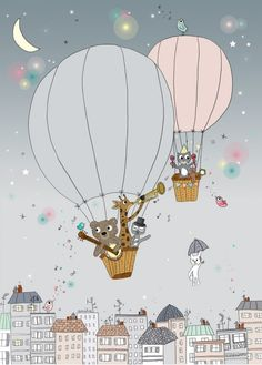 1000 images about balloons illustrations on pinterest hot air balloon balloons and balloon. Black Bedroom Furniture Sets. Home Design Ideas