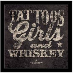Redneck Riviera - Tattoos, Girls And Whiskey by Eazl Black Canvas Image Box