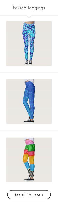 """keki78 leggings"" by keki78 on Polyvore featuring Leggings, pants, leggings, legging pants, blue pants, blue leggings, blue trousers, colorful pants, multicolor leggings and multi color leggings"