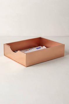 Copper Desk Letter Tray - anthropologie.com