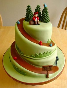 Cupcakes A Christmas cake. Crazy Cakes, Fancy Cakes, Pretty Cakes, Beautiful Cakes, Amazing Cakes, Cake Decorating Tutorials, Cookie Decorating, Decorating Cakes, Decorating Ideas