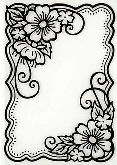 Hot off the Press - Embossing Folder - Flower Corners Más Leather Tooling Patterns, Leather Pattern, Wood Burning Patterns, Wood Burning Art, Fun Diy Crafts, Paper Crafts, Leather Carving, Parchment Craft, Border Design