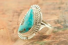 Beautiful Candelaria Turquoise Ring at www.TreasuresoftheSouthwest.com/RN8515-p-turquoise-rings_85.html