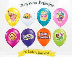 Shopkins Birthday Latex Balloons Shopkins Party by Andabloshop