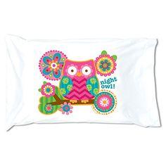 STEPHEN JOSEPH Owl Pillowcase *** For more information, visit