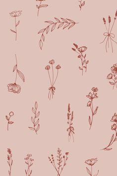 Wild Romantic | Blush & Red Floral Pattern