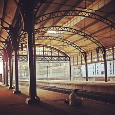 The train station The Hague HS is one of the prettiest in Holland, if not, in the world. It's old and so beautiful, I love the way the light plays with the walls and architecture. #pinyourcity #thehague