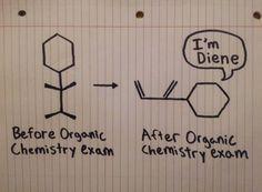 Organic chemistry exam. #memories