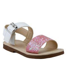 $11.99 Loving this Pink Sparkle Sandal on #zulily! #zulilyfinds