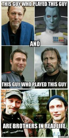 They are Danish actors and have learned most of their English from watching Mont… - Star wars funny Simbolos Star Wars, Star Wars Jokes, Star Wars Facts, Star Wars Rebels, Thrawn Star Wars, Grand Admiral Thrawn, Star War 3, The Force Is Strong, Long Time Ago
