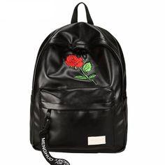 """Rose & Hoop"" Leather Backpack"