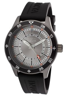 Invicta Men's Specialty Silver Tone Dial Black Polyurethane - Watch 14337,    #Invicta,    #14337,    #WatchesCasualQuartz