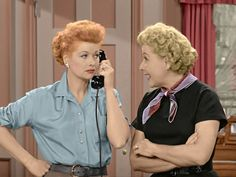 """""""Lucy and Ethel"""" - Colorized"""