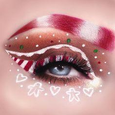 Eye Makeup Cut Crease, Eye Makeup Art, Makeup Inspo, Makeup Inspiration, Christmas Makeup Look, Halloween Makeup Looks, Holiday Makeup, Fancy Makeup, Eye Makeup Designs