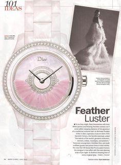 Dior VIII Grand Bal Plume Watch: Marie Claire- June 2012 - JCK