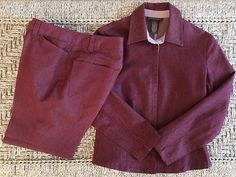Banana Republic Women's Stretch Set Pant Suit 0 Jacket & 2 Pant Chic Mauve Pink  #BananaRepublic #PantSuit