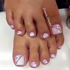 Pretty Toe Nails, Cute Toe Nails, Super Cute Nails, Gel Nails, Toe Nail Color, Toe Nail Art, Nail Colors, Square Nail Designs, Toe Nail Designs